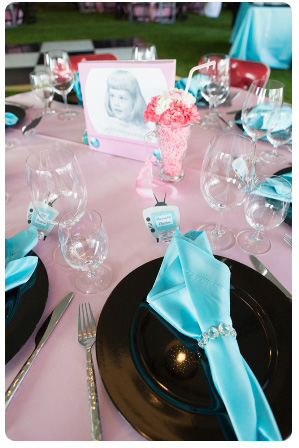 50's style birthday table design