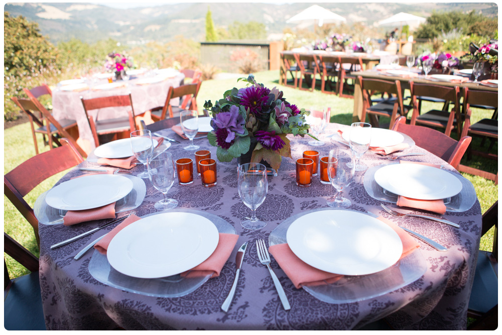 Private Luncheon In Sonoma County Autumnal Themed Table