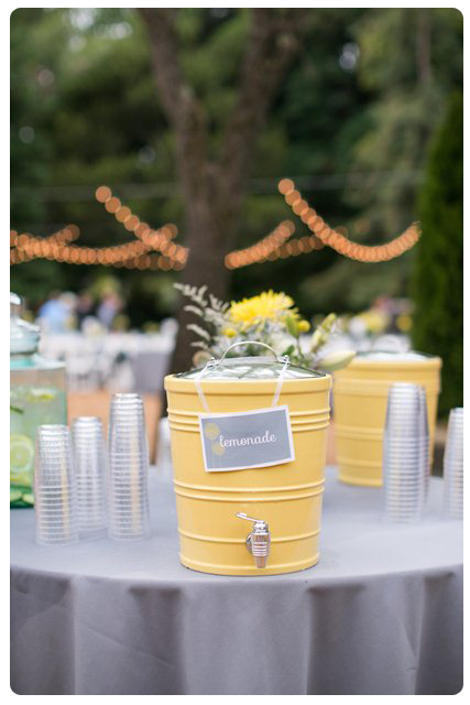 Backyard Wedding Theme-Bev Station