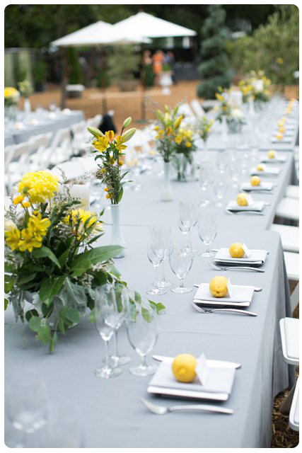 Backyard Wedding Theme-Tables
