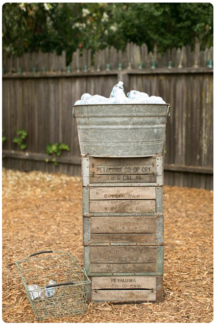 Backyard Wedding Theme-Water Station