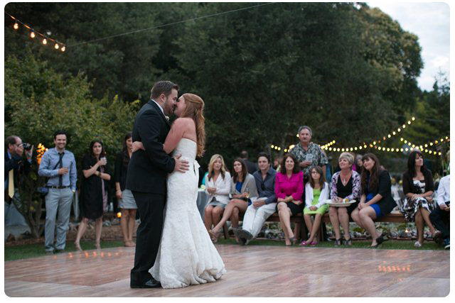 Backyard Wedding Theme dance floor