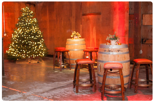 Rustic holiday party seasonal party ideas encore events for Rent cocktail tables near me