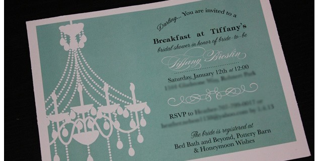 The Breakfast at Tiffanys bridal shower-Invite