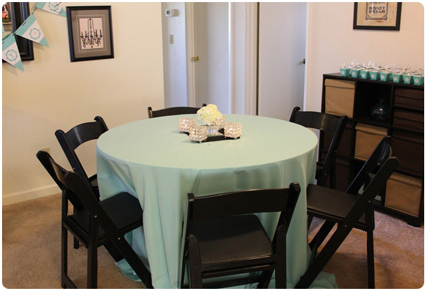 The Breakfast at Tiffanys bridal shower-Tables