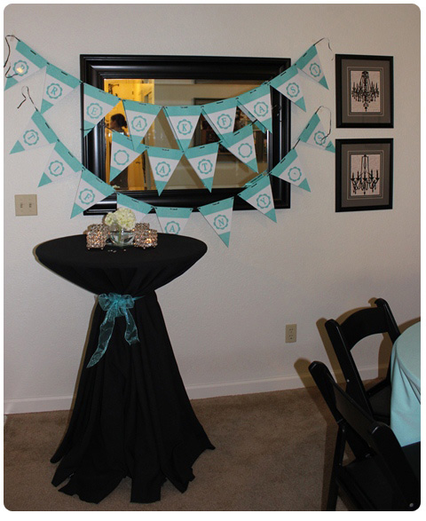 The Breakfast at Tiffanys bridal shower-Welcome area
