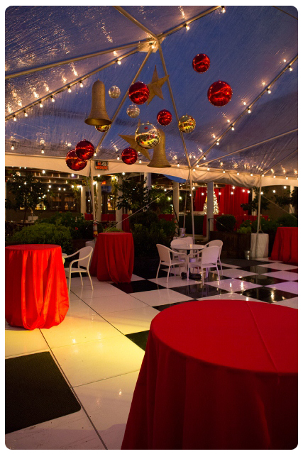 Francis ford coppola holiday party classic christmas for Terrace party decoration