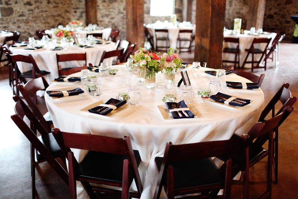 Rustic Chic Wedding Mahogany Wood Folding Chairs