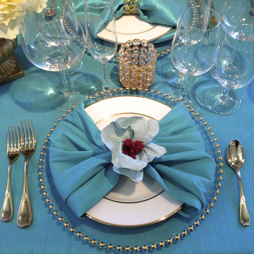 Paper Flower Place Settings