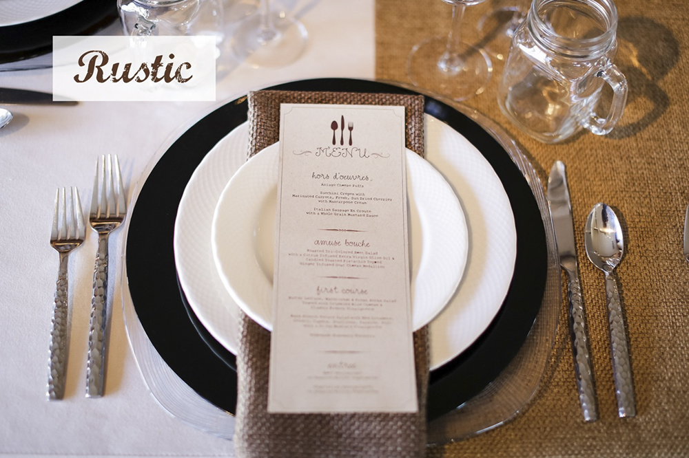 Wedding Place Settings and Table Design Ideas | Encore Events Rentals