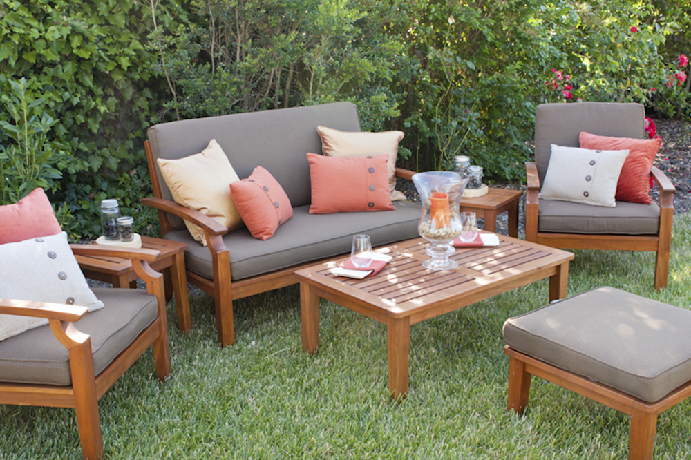 rent wood lounge furniture in wine country ...