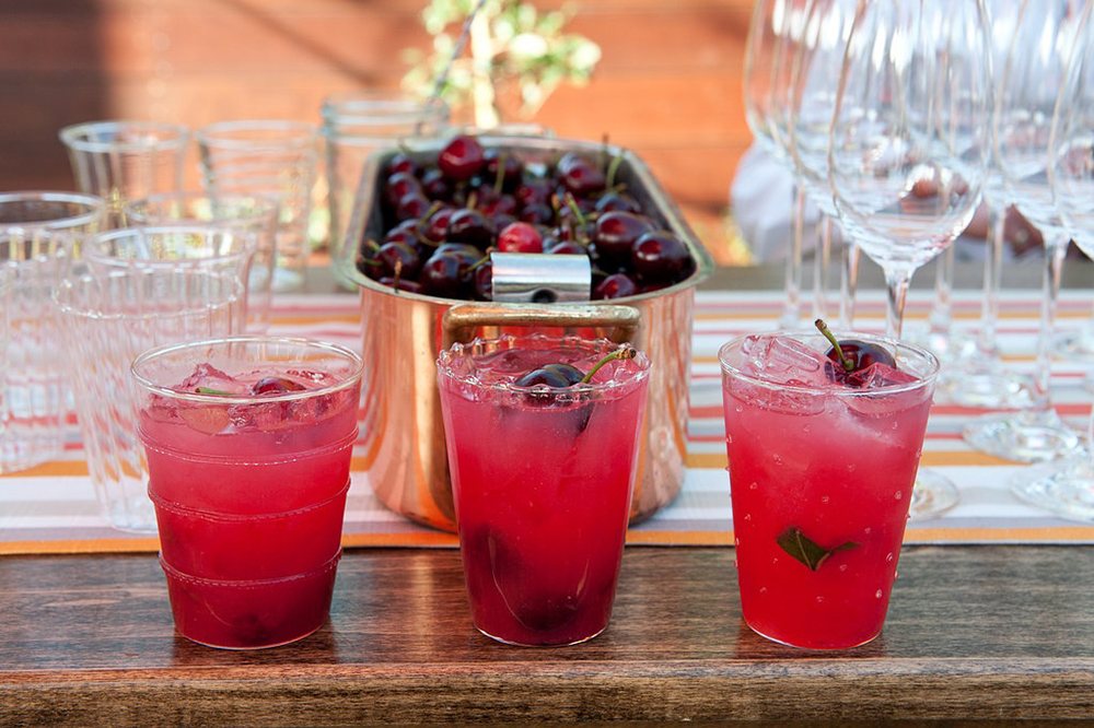 Cherry Basil Spritzer Recipe | Encore Events Rentals