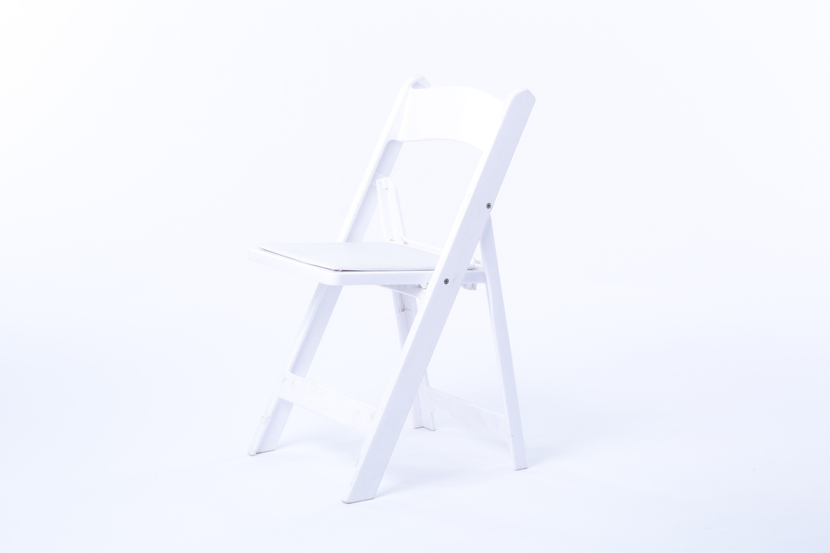 White Resin Chair Rental