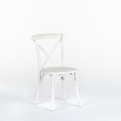 Bistro Chair White Distressed