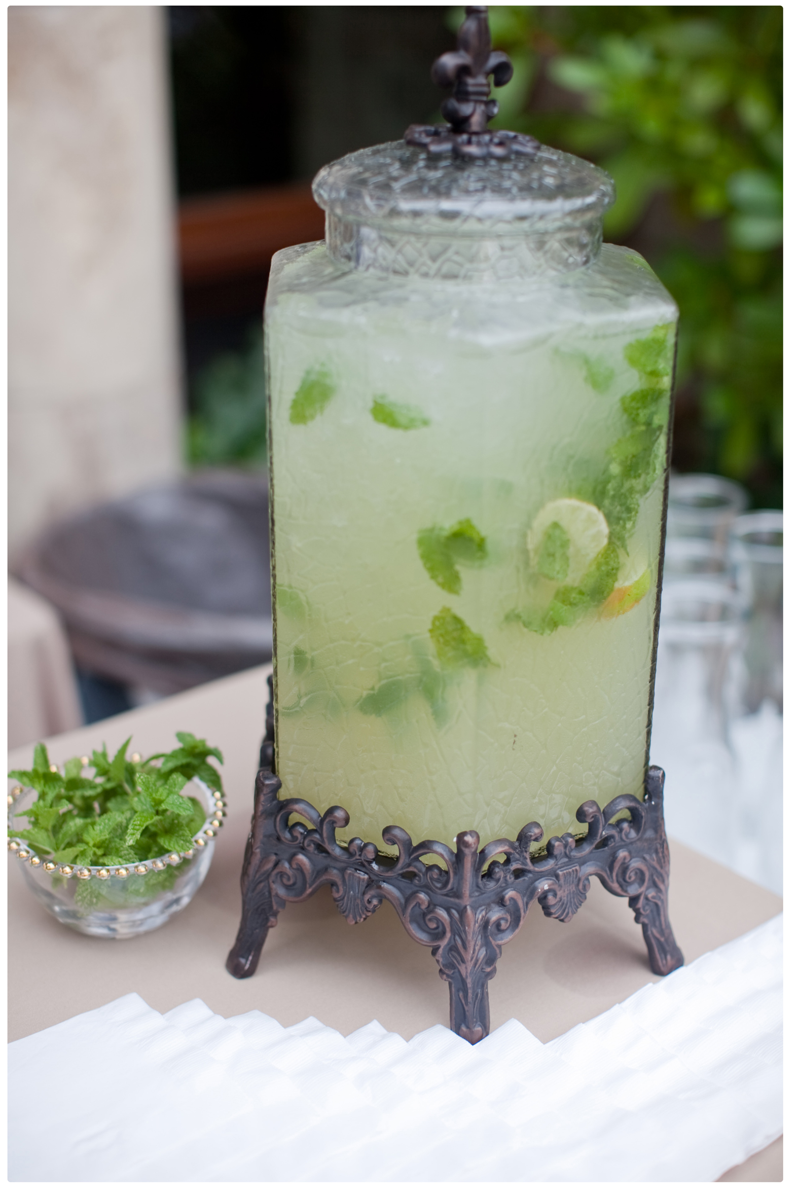 Lemon Mint And Lime Lemonade Beverage Container For Rent