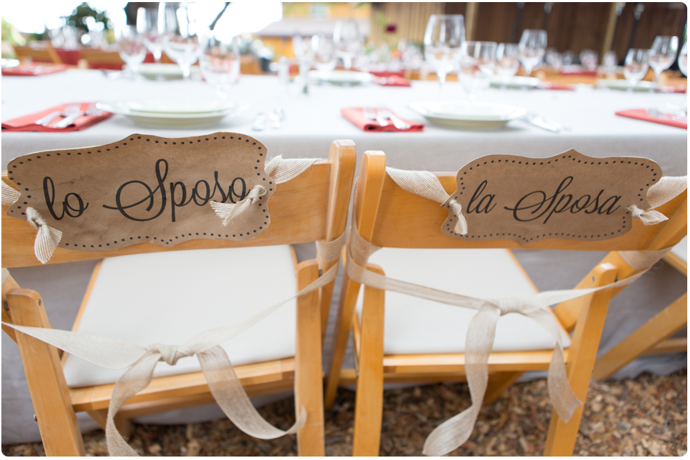 Mr and Mrs Signs For the Italian Themed Wedding