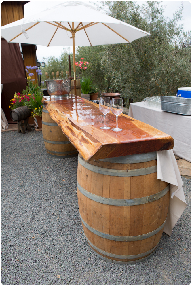 Wine Barrel Bar For the Italian Themed Wedding