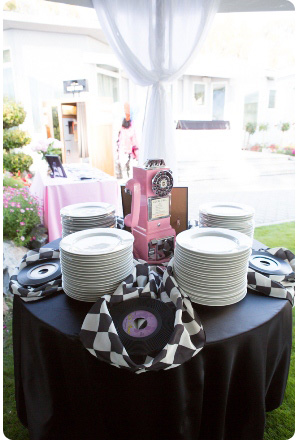 50's style birthday catering