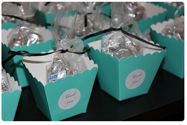 the breakfast at tiffanys bridal shower favors