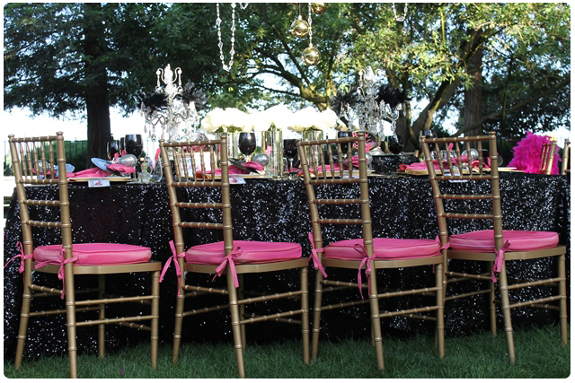 Chairs | glam rock wedding table design