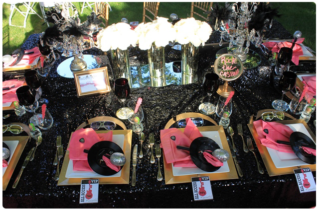 glam rocker table | glam rock wedding table design