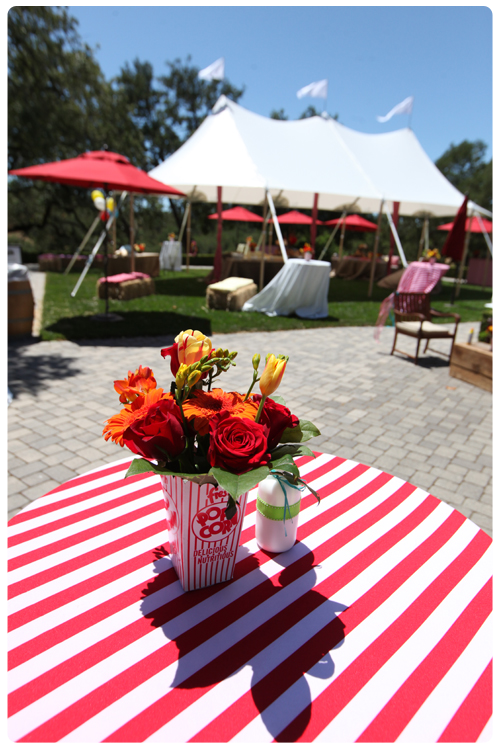 sunny outdoor carnival themed event