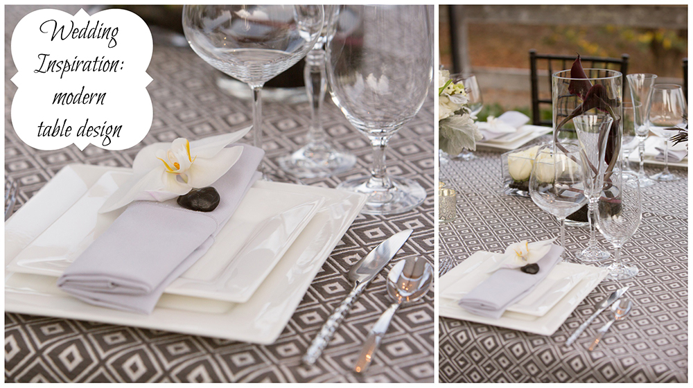 Wedding Inspiration: Elegant and Modern Wedding Design | Place Setting
