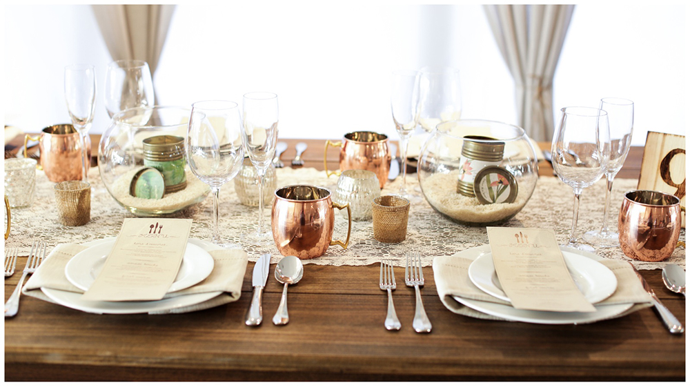 copper mug rustic tablescape