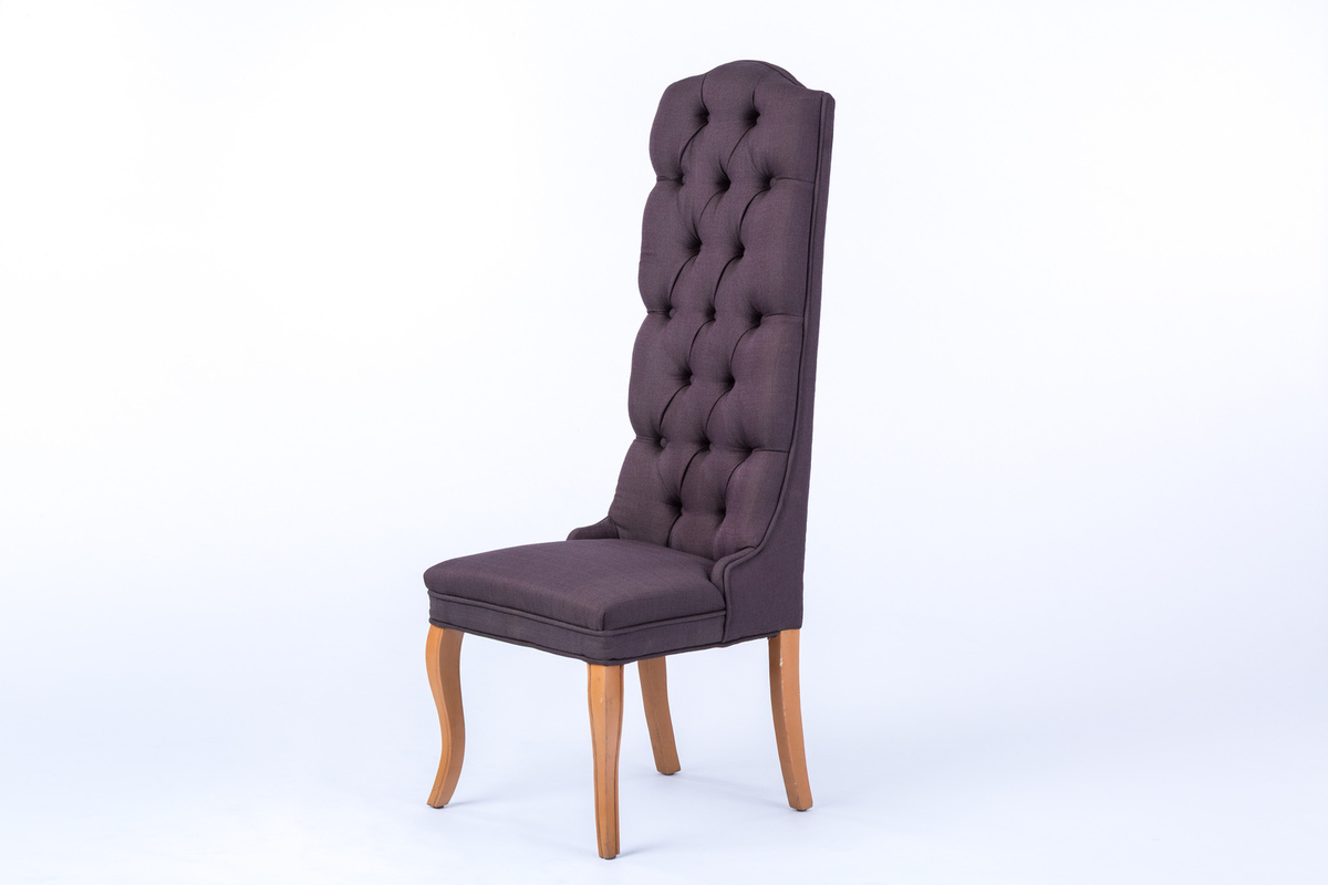 High Back Grey Dining Chair