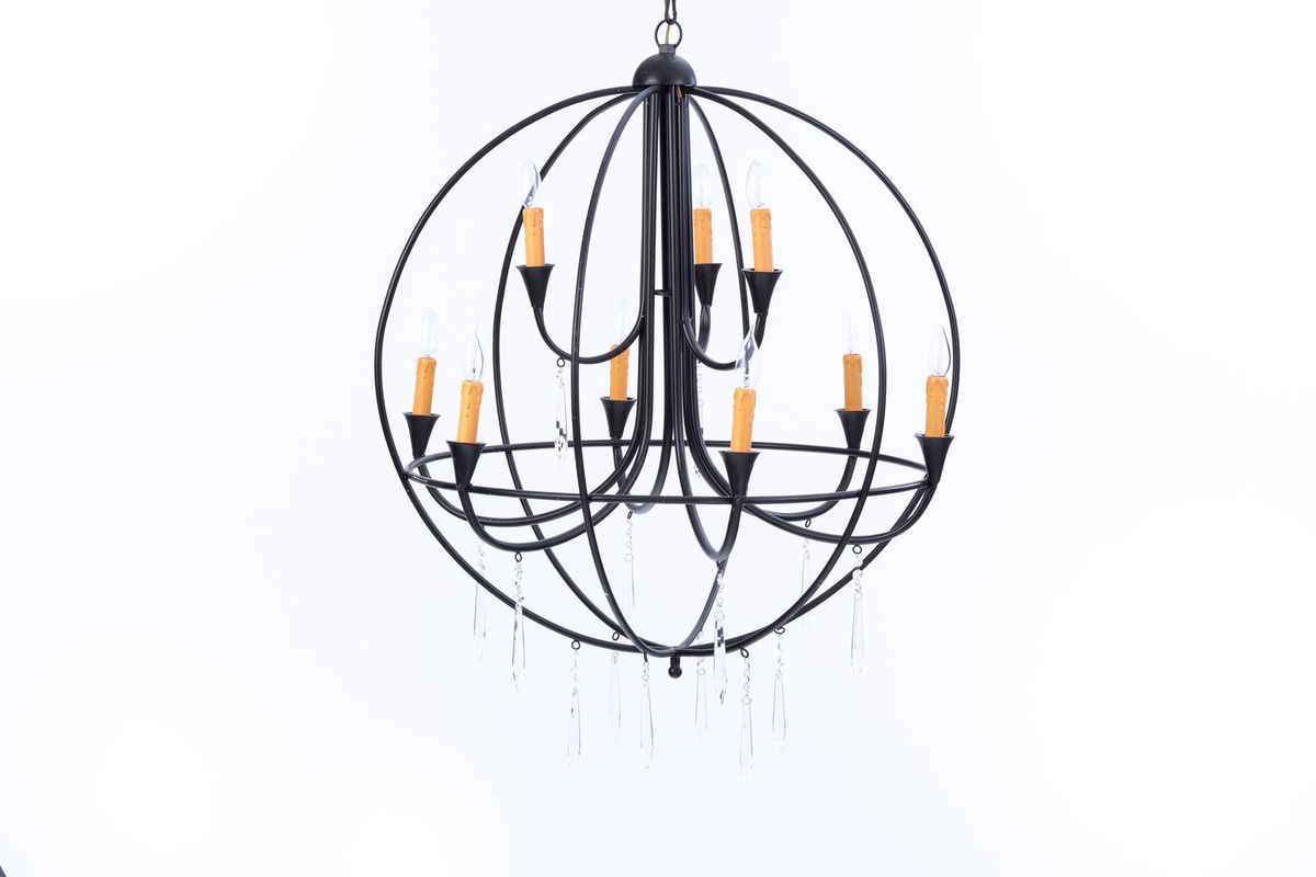 Wrought iron round chandelier rental encore events rentals wrought iron round chandelier arubaitofo Gallery