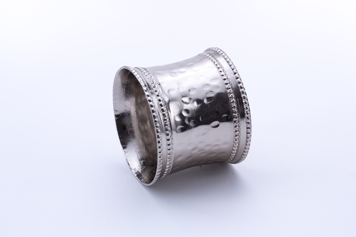 Napkin Ring Silver Hammered