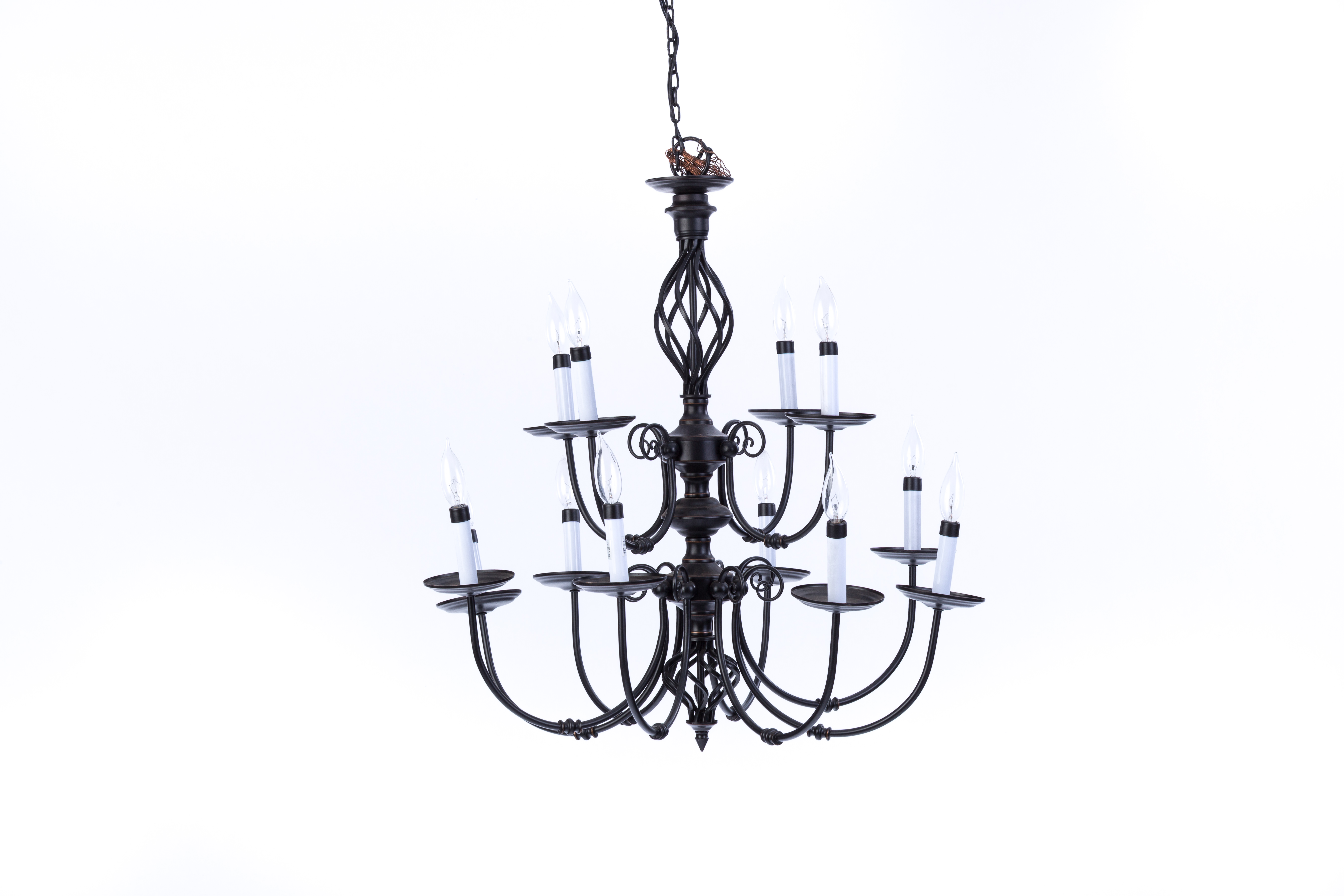 Rustic wrought iron chandelier rental encore events rentals rustic wrought iron chandelier aloadofball Image collections