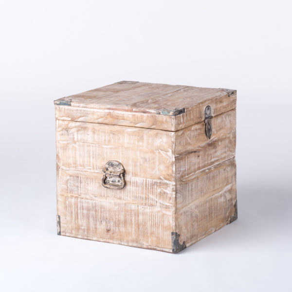 White Distressed Trunk