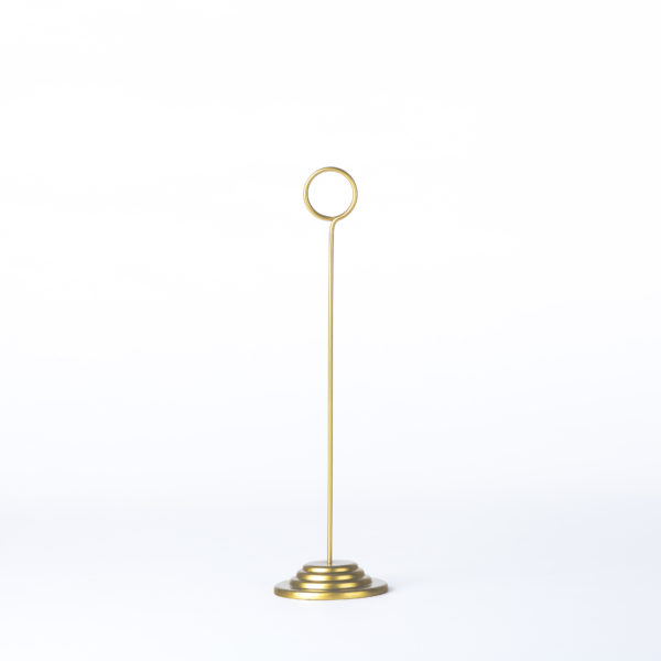 Table Number Holder_Gold-Round