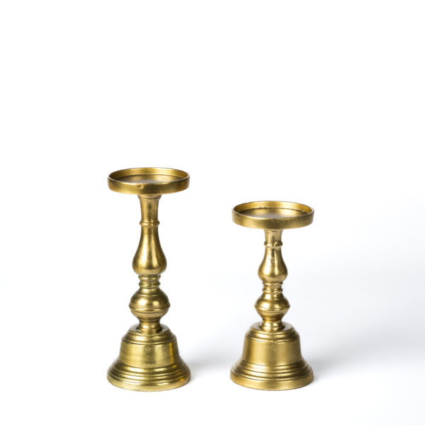 Athena Gold Candle Holders
