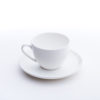 White Coupe China_Cup and Saucer