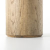 Drum Accent Table Copper Top Wood_3