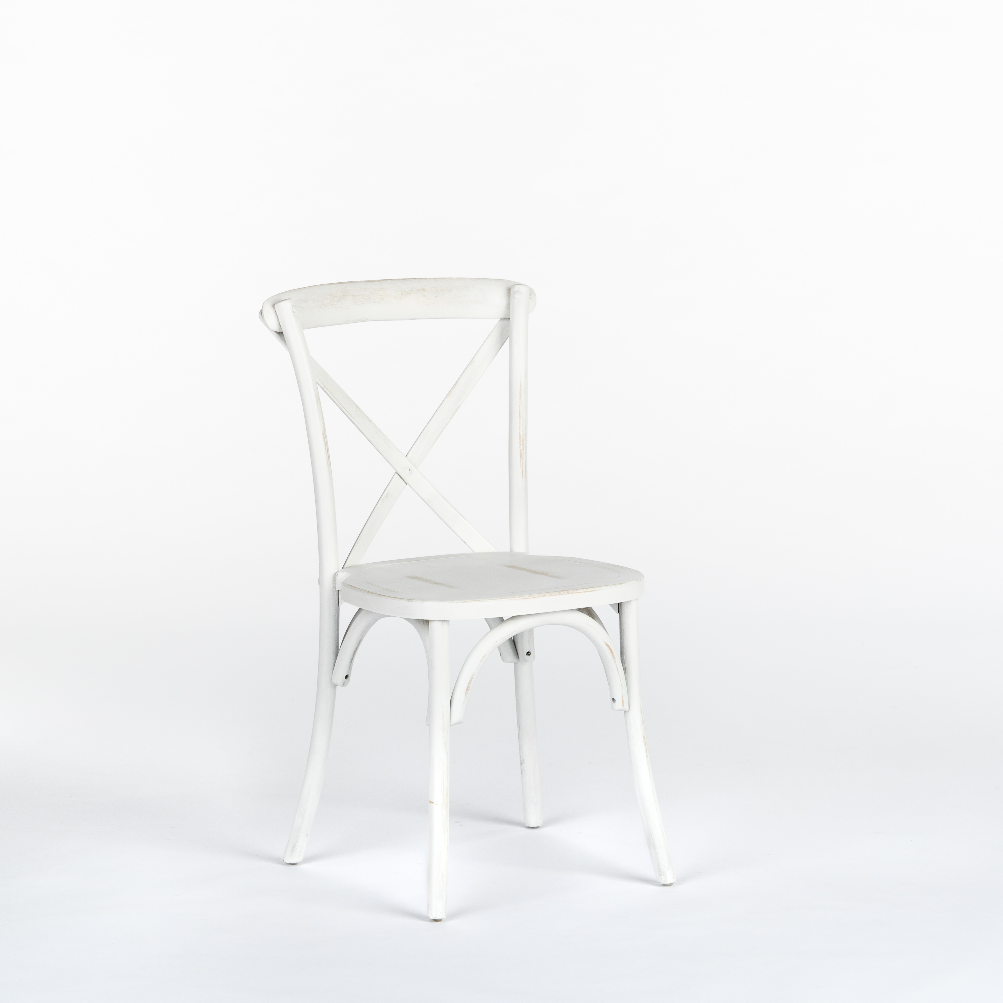 Bistro Chair, White Distressed