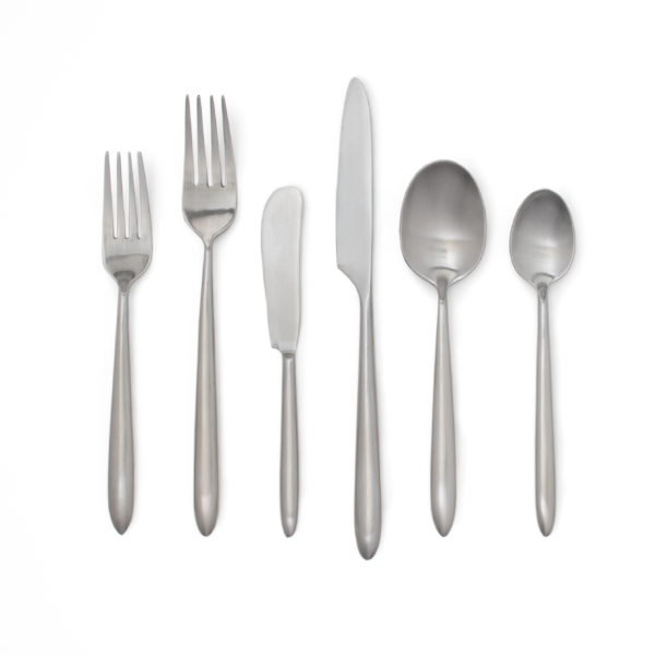 Alexis Brushed Metal Flatware_All