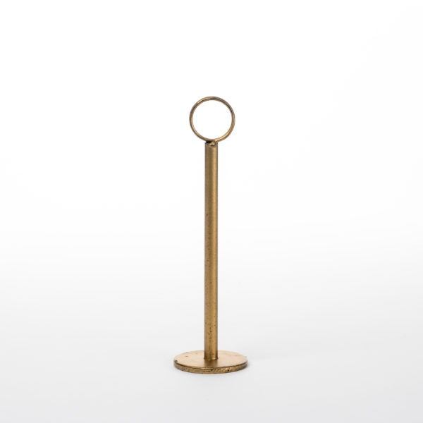 Table Number Holder_Gold 8 inch