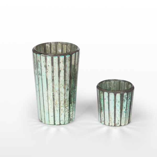 Ariel Silver Votives 4.75 and 2.5 inch