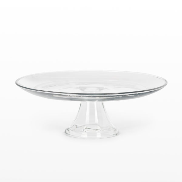 Cake Stand Glass Footed 13 inch