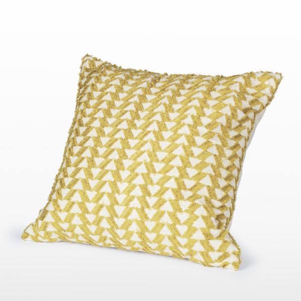 Curry Fringe Pillow 22 inch