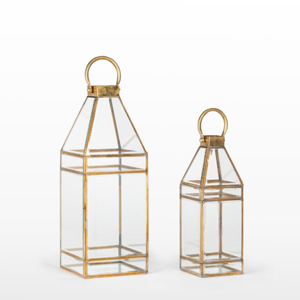 Gold Grace Lanterns 18 and 13 inch