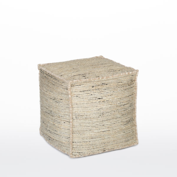 Sisal with Black Pouf